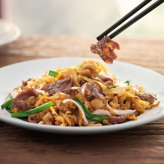 Pappa Char Koay Teow With Beef Slices