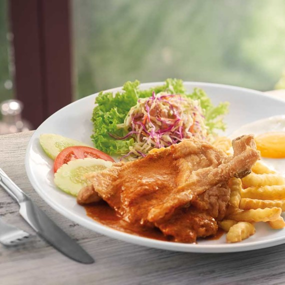 Pappa Chicken Chop With Curry Sauce