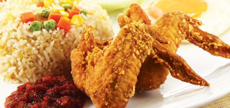 Chicken Wings And Fried Rice Singaporean chicken rice wings recipes ...