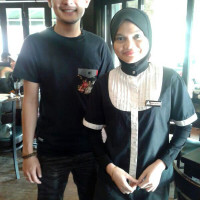Aril from Akademi Fantasia at PappaRich Ampang Avenue