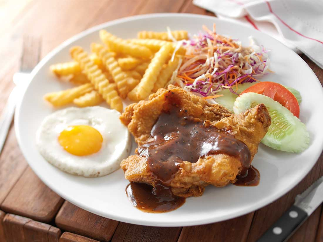Pappa Chicken Chop With Black Pepper Sauce