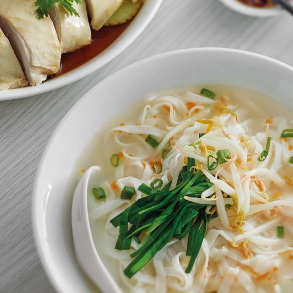Ipoh Koay Teow Soup With Steamed Chicken