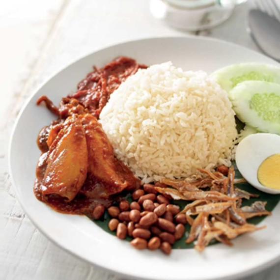 Nasi Lemak With Sweet & Spicy Sotong